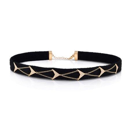 Leather suede gold bracelet