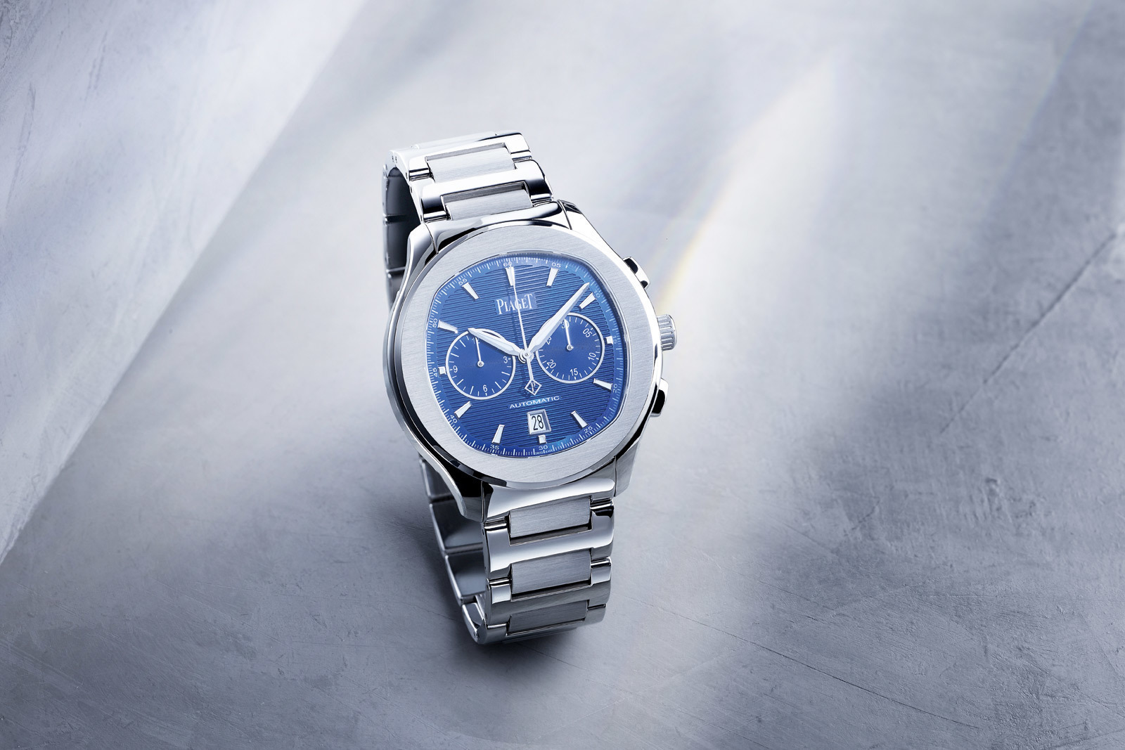 The Piaget Polo S, a stylish and beautiful timepiece by the French maison, comes in a 42mm steel case,