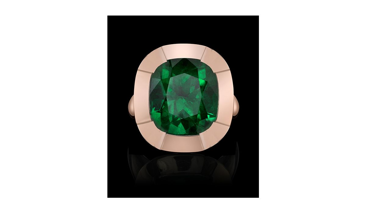 cushion emerald ring