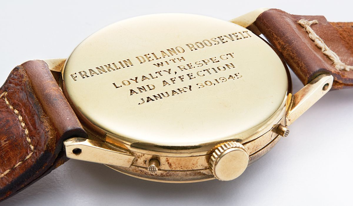 The watch given to US President Franklin Delano Roosevelt for his birthday in 1945