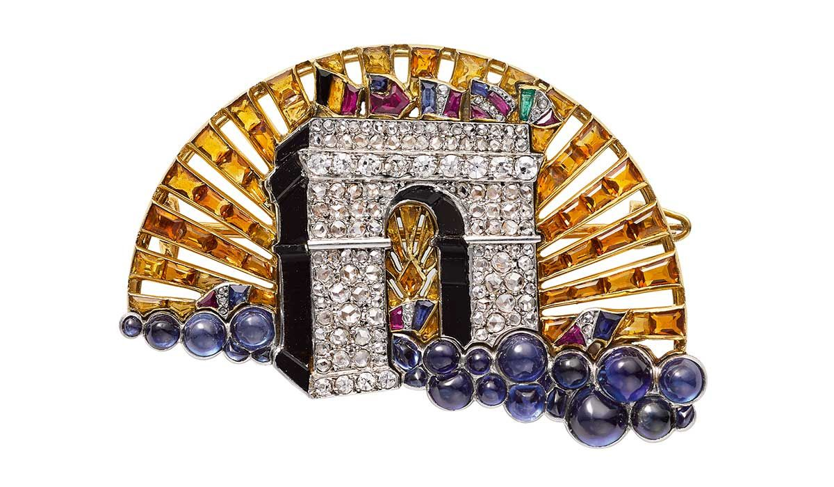 The Arc de Triomphe brooch, Cartier Paris, 1919, selected by Pascale Lepeu, curator of the Cartier Collection.
