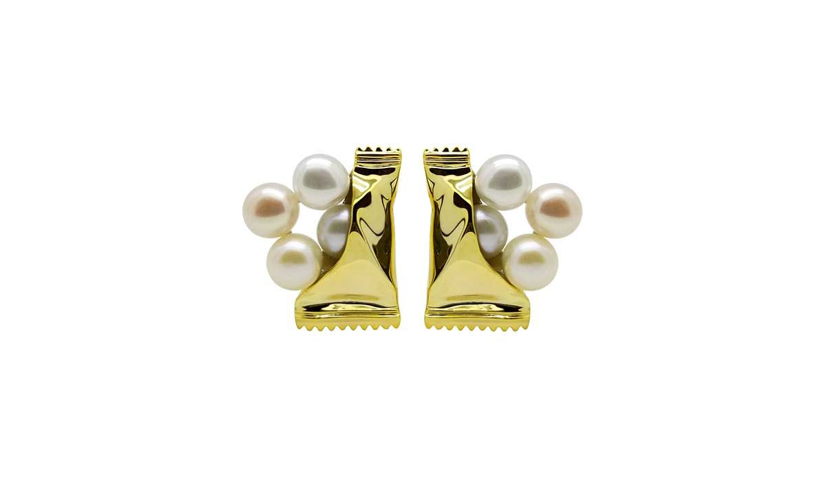 Frashwater pearl earrings, Sweets for Sweetheart collection, BC Joaillerie
