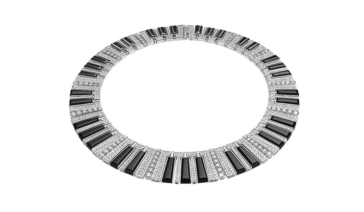 Onyx and diamond Synthetiser necklace, Wild Pop collection, Bulgari High Jewelry.