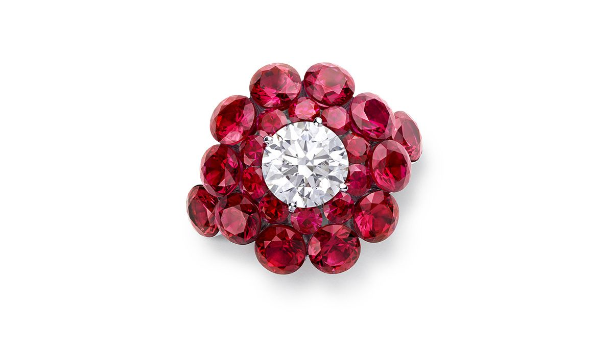 Ruby and diamond ring, Magical Setting collection, Chopard