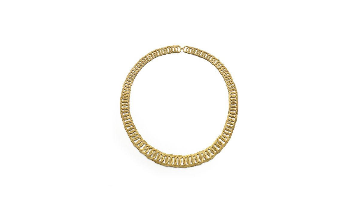 Lucie Gledhill, Fishbone Chain, 18ct gold.