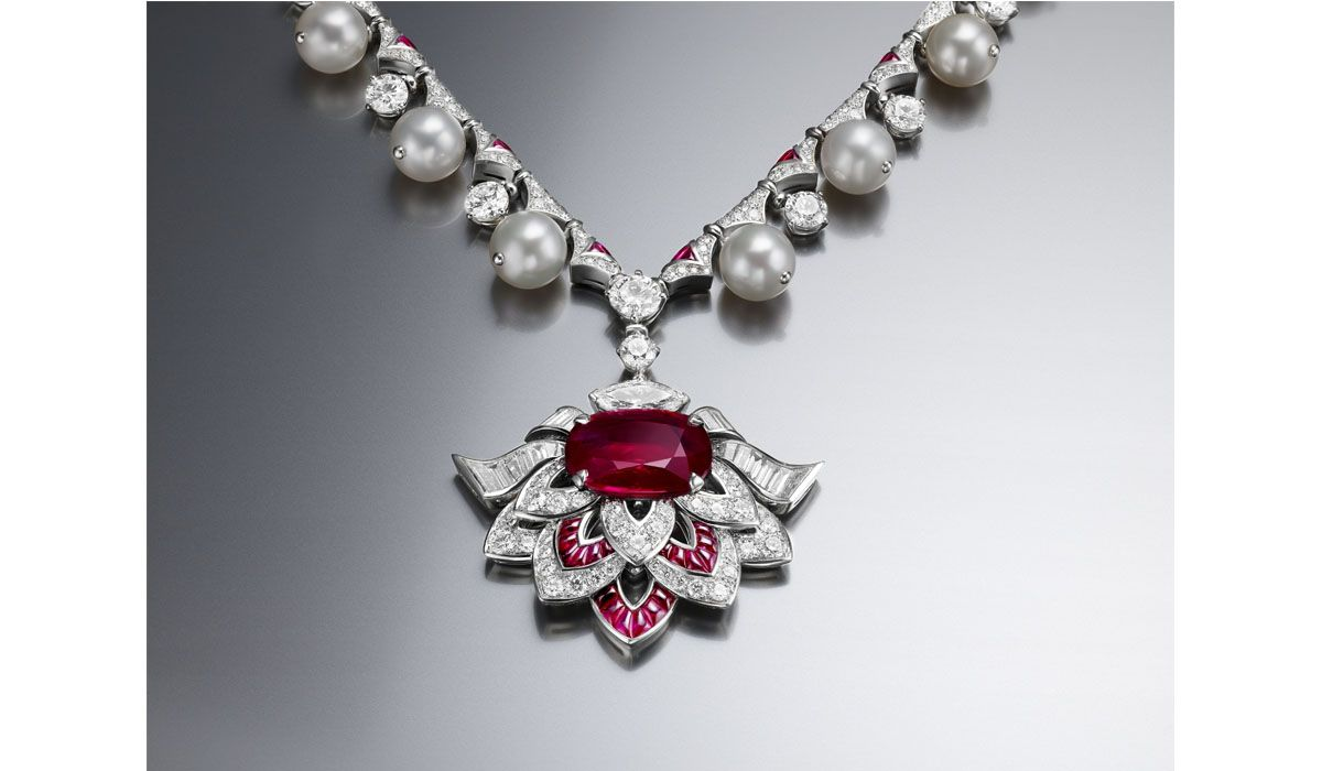 Cuore di Roma collier with a red ruby, Festa delle Principesse collection, Bulgari