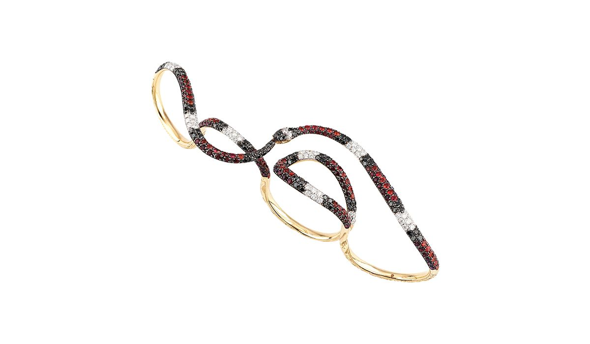 Ouroboros multi-ring by Gucci