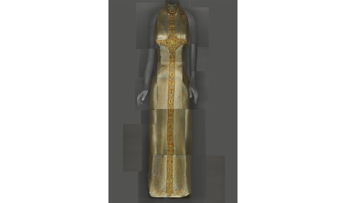 Evening Dress, Gianni Versace, autumn/winter 1997–98. Image courtesy of The Metropolitan Museum of Art, Digital Composite Scan by Katerina Jebb