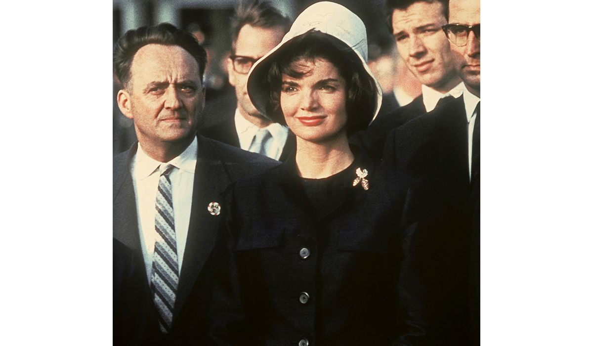 Jackie Kennedy with the Tiffany & Co. Berry Brooch. Photo Kennedy Dpa.