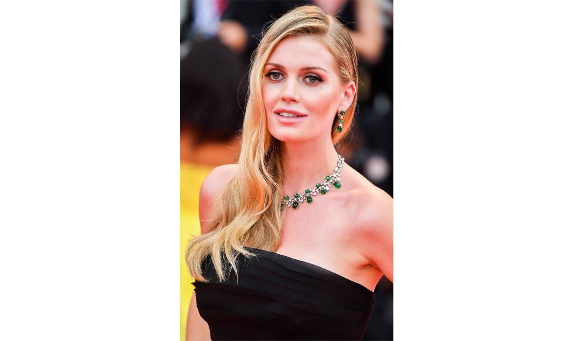 Lady Kitty Spencer in Bulgari earrings and necklace