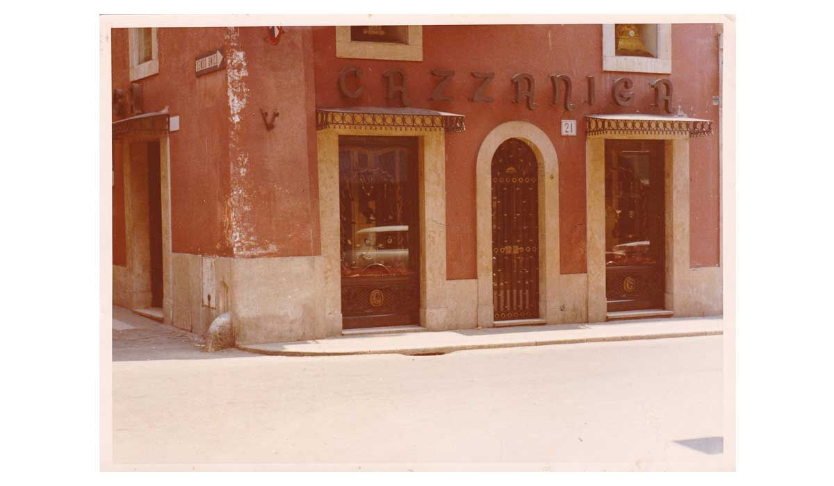 Cazzaniga's old shops in via Frattina, Rome