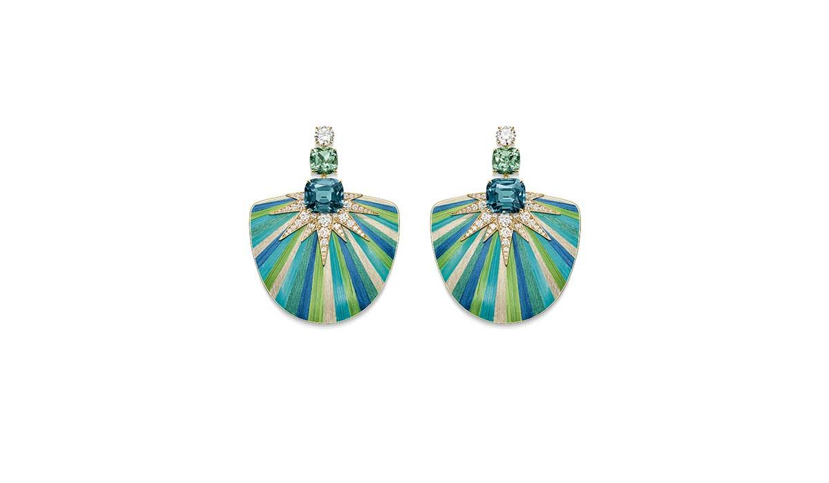 Green Aurora earrings, Sunlight Escape  collection, Piaget.
