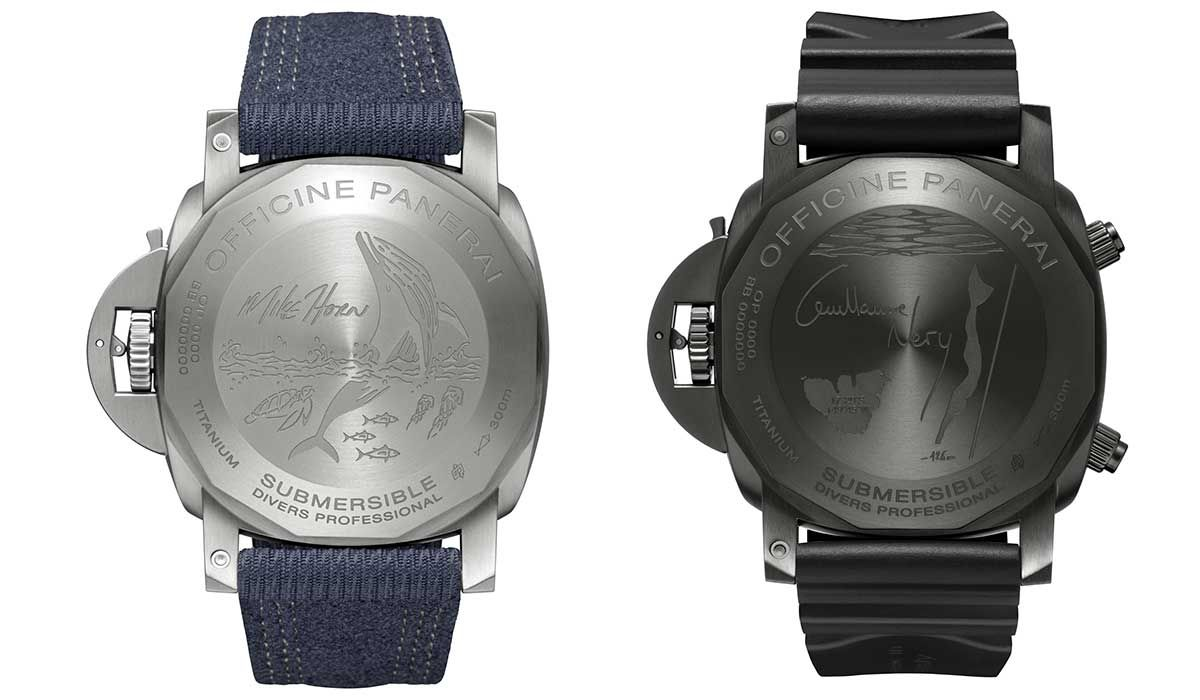 The two Submersible watches by Néry and Horn.