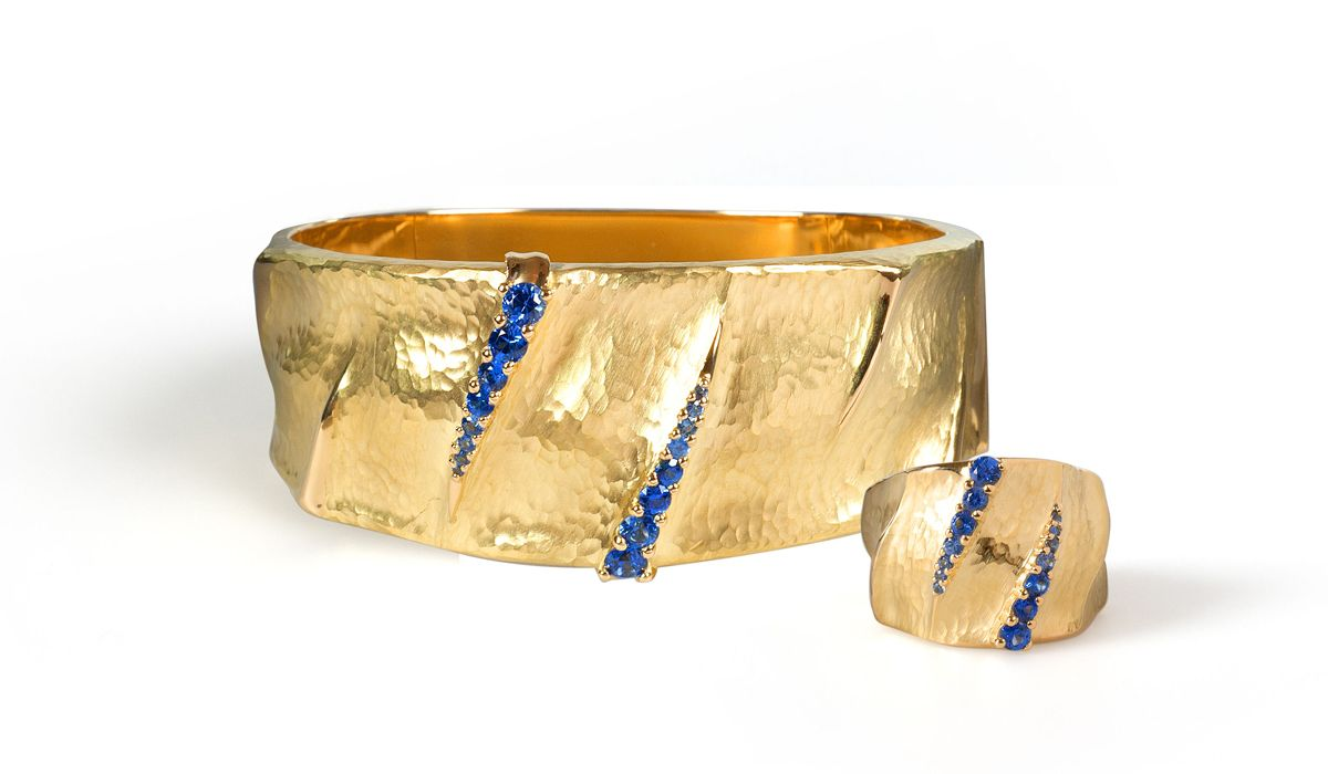 dune sapphires cuff and ring