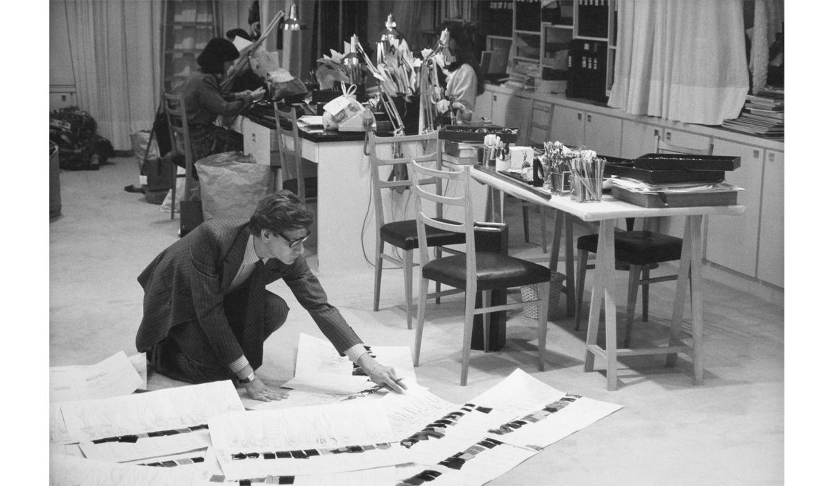 Yves Saint Laurent in his studio