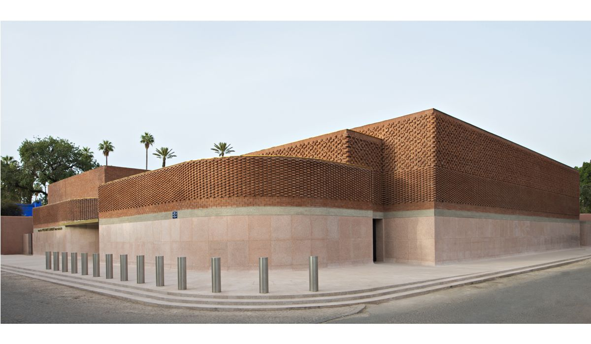Façade of the Musée Yves Saint Laurent Marrakech