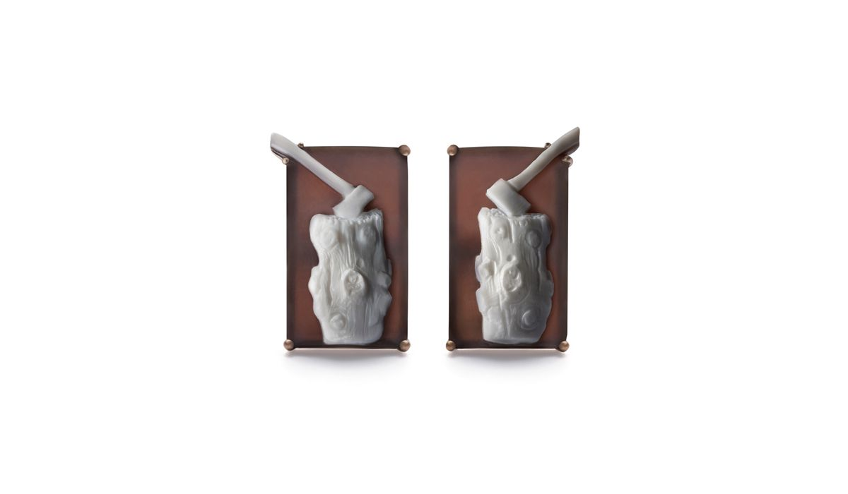 Catherine Opie Munch's Log Cufflinks