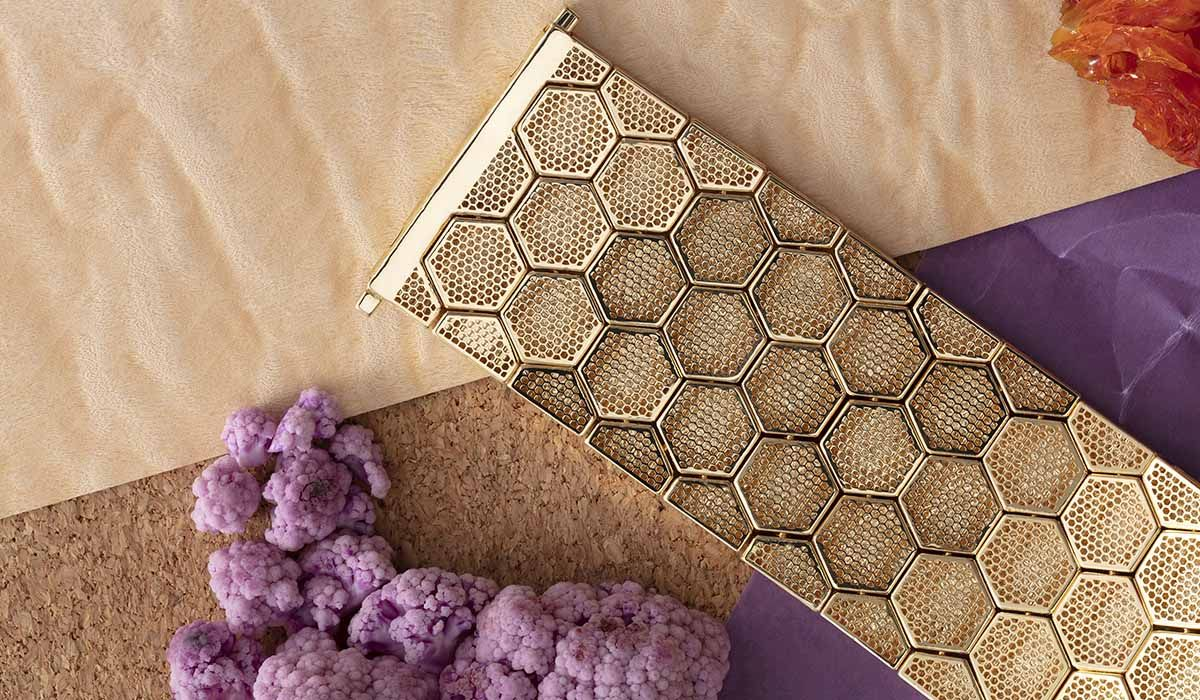 Gold cuff, Honeycomb collection, Femar