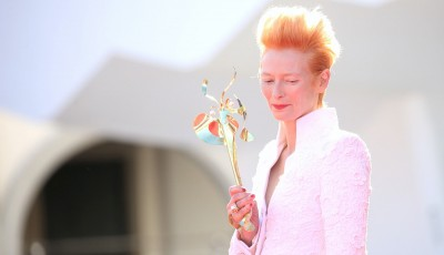 Tilda Swinton's mask at 2020 Venice Film Festival
